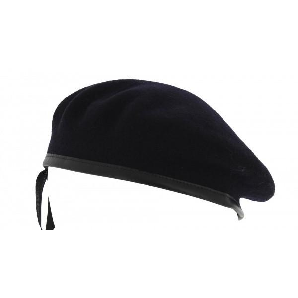 béret militaire bleu noir